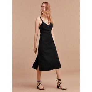 Wilfred Astere Midi Linen Wrap Dress